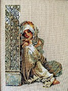 For Tapestries - Textiles Originals - Arabian woman by Petya Petrova