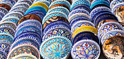 Moroccan Market Prints - Arabic Colorful Pottery  Print by Mythja  Photography