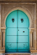 Moroccan Photos - Arabic door by Mythja  Photography