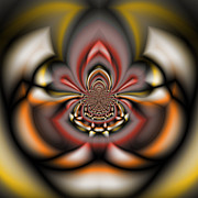 Manley Prints - Arachnid - A Fractal Abstract Print by Gina Manley