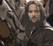 Lord Of The Rings Posters - Aragorn Poster by George Pedro