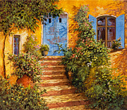 Warm Painting Prints - Arancio Caldo Print by Guido Borelli