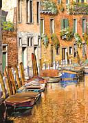 Arancio Sul Canale Print by Guido Borelli