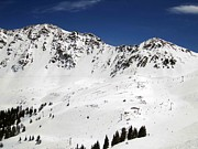 Skiing Prints Prints - Arapahoe Basin Ski Resort - Colorado          Print by Fiona Kennard
