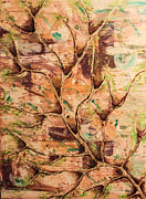Featured Mixed Media Originals - Arbre De La Vie by Reese Wallace