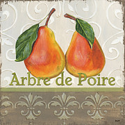 Yellow Leaves Painting Prints - Arbre de Poire Print by Debbie DeWitt