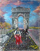 Taylor Swift Painting Framed Prints - Arc de Triomphe Framed Print by Alana Meyers