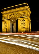 Paris At Night Posters - Arc de Triomphe at night Poster by Matt MacMillan