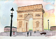 Arc De Triomphe Print by Keshava Shukla