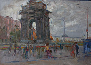 Moscow Painting Metal Prints - Arc de Triomphe. Moscow Metal Print by Ilya  Izyumov
