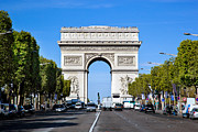 Elysees Posters - Arc de Triomphe Paris France Poster by Photocreo Michal Bednarek