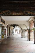 Bresse Prints - Arcade In Lohans - Burgundy Print by Christiane Schulze