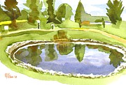 Water Colors Painting Originals - Arcadia Valley Country Club II by Kip DeVore