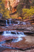 Waterfall Photos - Arch Angel Cascades by Joseph Rossbach
