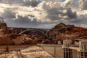 Hoover Posters - Arch Bridge and Hoover Dam Poster by Robert Bales