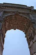 Scenes Of Italy Framed Prints - Arch of Titus Framed Print by Melany Sarafis