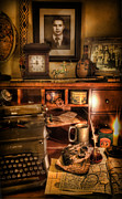 Typewriter Photos - Archaeologist - The Adventurers Hutch  by Lee Dos Santos