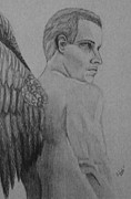 Angel Drawings - Archangel by Angel Surber