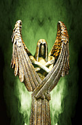 Archangel Azrael Framed Prints - Archangel Azrael Framed Print by Bill Tiepelman