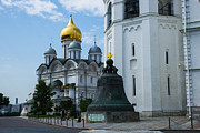 Russian Cross Photos - Archangel cathedral and Czar Bell of Moscow Kremlin by Alexander Senin