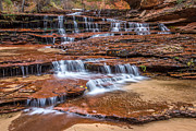 Archangel Photo Prints - Archangel falls Zion Utah Print by Pierre Leclerc