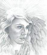 Angelic Drawings - Archangel Gabriel by Karina Griffiths