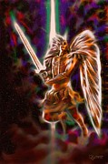 Michael Sweet Metal Prints - Archangel Michael Metal Print by Dave Luebbert