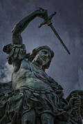 Historic Statue Photo Posters - Archangel Michael Poster by Erik Brede