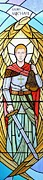 Liturgical Glass Art Posters - Archangel Michael Poster by Gilroy Stained Glass
