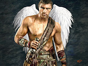 Hand-painted Portraits Paintings - Archangel Michael by James Shepherd