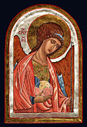 Egg Tempera Paintings - Archangel Michael by Raffaella Lunelli