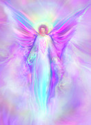 Healing Art Painting Prints - Archangel Raphael Print by Glenyss Bourne