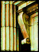 Corbal Framed Prints - Archatectural Elements  Digital Paint Framed Print by Debbie Portwood