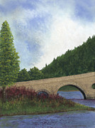 Europe Pastels - Arched Bridge by Ginny Neece