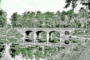 White Arched Bridge Prints - Arched Bridge Print by Jim Lepard