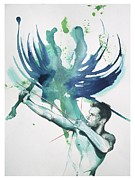 Dreamscape Mixed Media Metal Prints - Archer Metal Print by Rene Capone