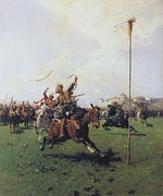 Contest Painting Prints - Archery Print by Pg Reproductions