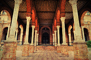 Seville Prints - Arches and Columns of Plaza de Espana. Seville Print by Jenny Rainbow