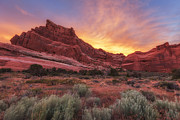 Arches Fire In The Sky Print by Darren  White
