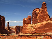 Rocky Outcrops Posters - Arches National Park Utah Poster by Mountain Dreams
