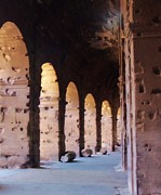 Arches Of The Roman Coliseum Print by Jan Moore