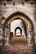 Old Wall Framed Prints - Arches of Valentre bridge in Cahors France Framed Print by Elena Elisseeva