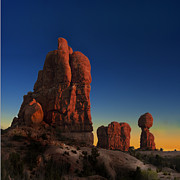 Gary Warnimont Metal Prints - Arches time lapse sunset Metal Print by Gary Warnimont