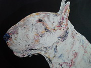 English Bull Terrier Paintings - Archie by Janette Ireland