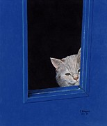French Door Paintings - Archie by Terry Bungard