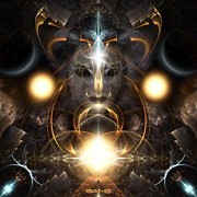 Photons Digital Art - Architects Of Light by Rolando Burbon