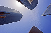 Architectural Bunker Hill Financial District Print by David  Zanzinger