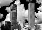 Architectural Diversity Houston Tx Print by Christine Till
