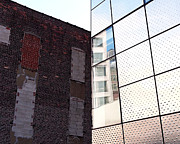 Design Photo Metal Prints - Architectural Juxtapostion on the High Line Metal Print by Rona Black