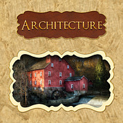 Old Mills Posters - Architecture button Poster by Mike Savad